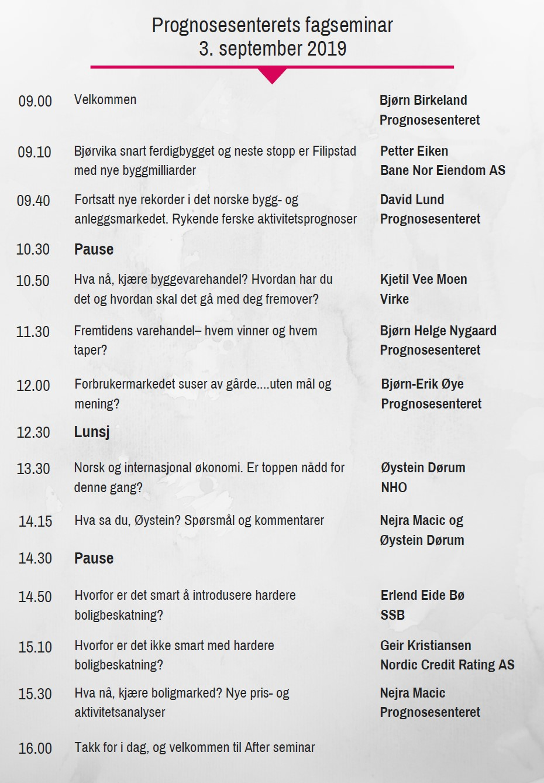 Program fagseminar 19